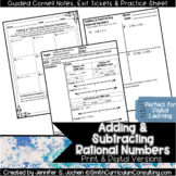 Adding and Subtracting Rational Numbers Guided Cornell Not