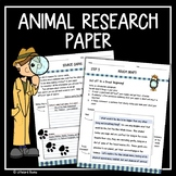 Animal Research Paper  (Animal Research Project) (Animal R