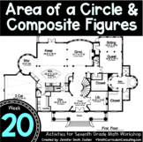 Area of Circles & Composite Figures   7th Grade Math Works