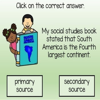 Primary and Secondary Sources Distance Learning  Digital BOOM Cards