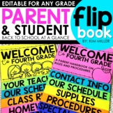 Back to School Flipbook for Open House or Meet the Teacher Night | EDITABLE