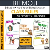 Rules EDITABLE with SPANISH posters