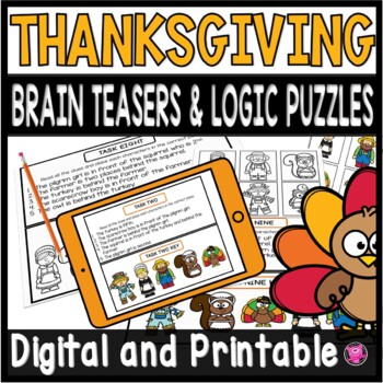 Thanksgiving Logic Puzzles and Brain Teasers NOVEMBER