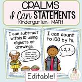 Florida Standards I Can Statements Kindergarten Math