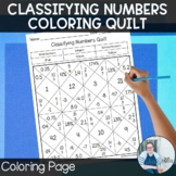 Classifying Numbers Coloring Quilt TEKS 6.2a Math Workshop