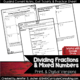 Dividing Fractions Guided Cornell Notes | Distance Learning
