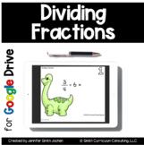 Dividing Fractions Task Cards for Google Drive | Distance