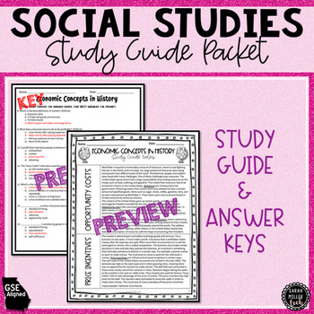 Economic Concepts in History Assessment (SS5E1)