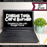 Eighth Grade Math Digital Task Card Bundle | Perfect for D