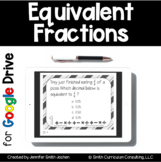 Equivalent Fractions Task Cards for Google Drive | Distanc