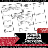 Evaluating Numerical Expressions Guided Cornell Notes | Di