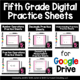 Fifth Grade Digital Practice Sheets | Google Forms for Dis