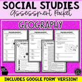 1/2 OFF 24 HRS! Geography Assessment & Study Guide (SS5G1,