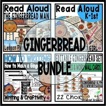 Gingerbread Activities Literacy and Craftivity Bundle