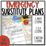 Grade 3 Emergency Sub Plans