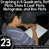 Graphing and Graphs   6th Grade Math Workshop Activities  
