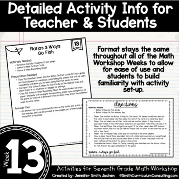 Intro to Rate & Unit Rate   6th Grade Math Workshop Activities