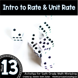 Intro to Rate & Unit Rate | 6th Grade Math Workshop Activities