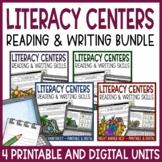 Literacy Centers Unit Bundle | Reading & Writing Skills | Printable & Digital