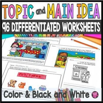 Main Idea Worksheet Kindergarten Teachers Pay Teachers - Download Main Idea And Details Worksheets Kindergarten Background