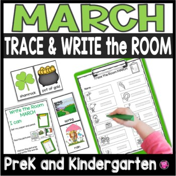 March Write the Room - Differentiated Writing Activities