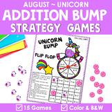 Math Fact Fluency Addition Games - Unicorn Theme