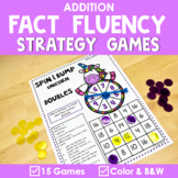 Math Fact Fluency Addition Games - Unicorn Theme