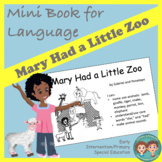 Mini Book for Language - Mary Had a Little Zoo