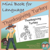 Mini Book for Language:  Thanksgiving Turkey
