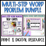 Multi-Step Word Problem DIGITAL and PRINT BUNDLE!