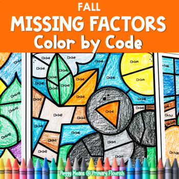 Multiplication Missing Factors   Color by Code   FALL worksheets