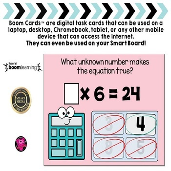 Multiplication 0-12 Interactive Digital Tasks Practice BOOM Cards™