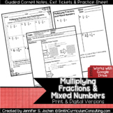 Multiplying Fractions Guided Cornell Notes | Distance Learning