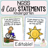 NGSS I Can Statements for Kindergarten
