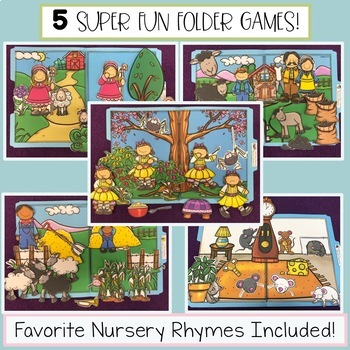 Nursery Rhyme File Folder Tasks - Retelling the Poems - Set 3