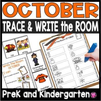 October Write the Room Differentiated Writing Activities