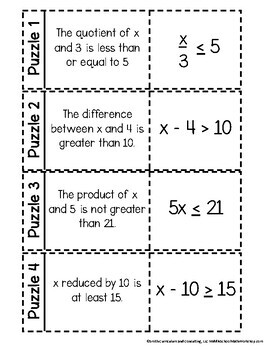 One-Step Inequalities | 6th Grade Math Workshop Activities