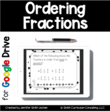 Ordering Fractions Task Cards Google Drive | Distance Learning