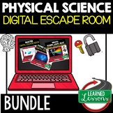 Physical Science Digital Escape Rooms, Science Breakout Rooms BUNDLE