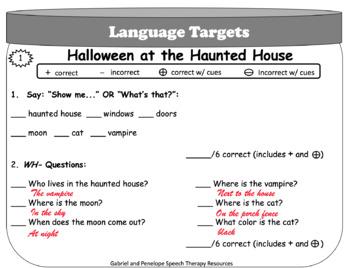 Playdough Mats for Language:  Halloween