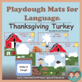 Playdough Mats for Speech and Language Therapy: Thanksgiving