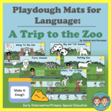 Playdough Mats for Speech & Language Therapy - A Trip to the Zoo