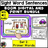 Primer Sight Words in Sentences   DIGITAL and PRINT Task C