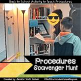 Back to School Procedures Scavenger Hunt   Printable and Editable