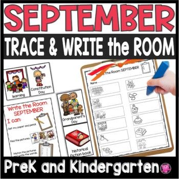 September Write the Room Differentiated Writing Center Packet