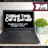 Seventh Grade Math Digital Task Card Bundle | Perfect for