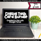 Seventh Grade Math Digital Task Card Bundle | Perfect for