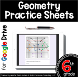 Sixth Grade Digital Practice Sheets- Geometry Distance Learning