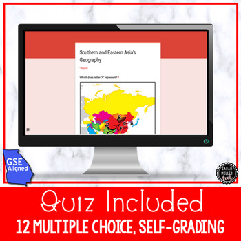 Southern & Eastern Asia Geography for Google Classroom (SS7G9)