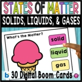 States of Matter Distance Learning Digital Boom Cards Soli